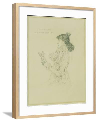 Portrait of Sarah Bernhardt, 1879-Jules Bastien-Lepage-Framed Art Print
