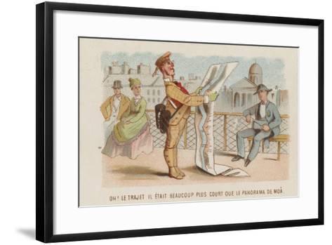 Travel Cartoon--Framed Art Print
