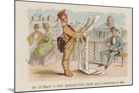Travel Cartoon--Mounted Giclee Print