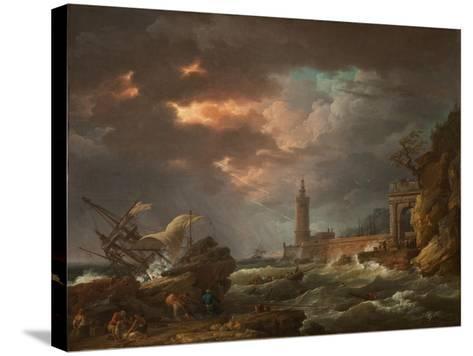The Tempest-Claude Joseph Vernet-Stretched Canvas Print