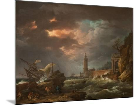 The Tempest-Claude Joseph Vernet-Mounted Giclee Print