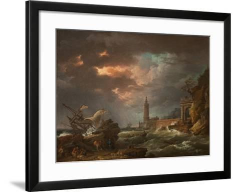 The Tempest-Claude Joseph Vernet-Framed Art Print