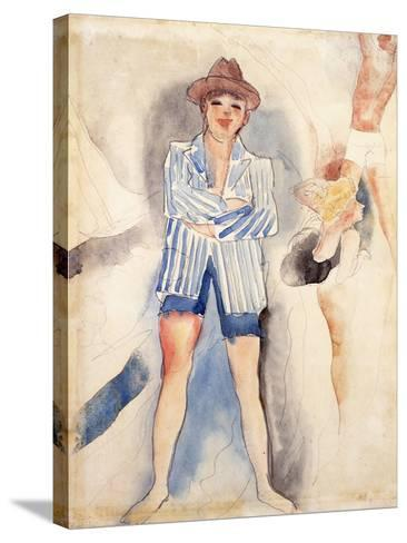 The Striped Blazer-Charles Demuth-Stretched Canvas Print