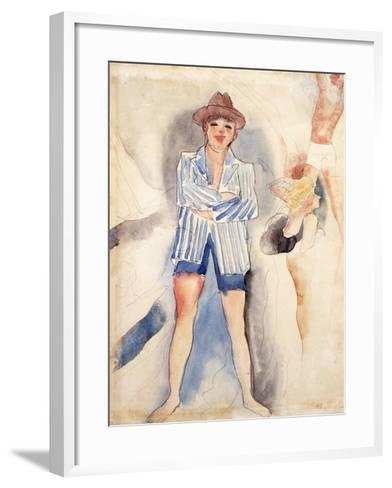 The Striped Blazer-Charles Demuth-Framed Art Print