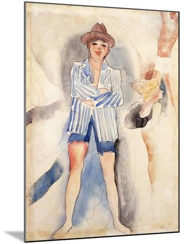 The Striped Blazer-Charles Demuth-Mounted Giclee Print
