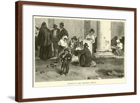Peasants of Sora Preparing Polenta--Framed Art Print