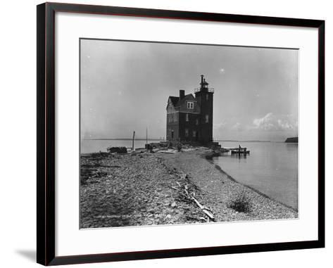 Mackinac Island from Round Island, C.1899--Framed Art Print