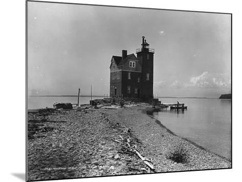Mackinac Island from Round Island, C.1899--Mounted Photographic Print