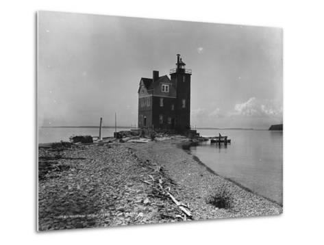 Mackinac Island from Round Island, C.1899--Metal Print