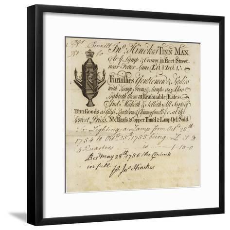 Tin Man, John Hinckes, Trade Card--Framed Art Print