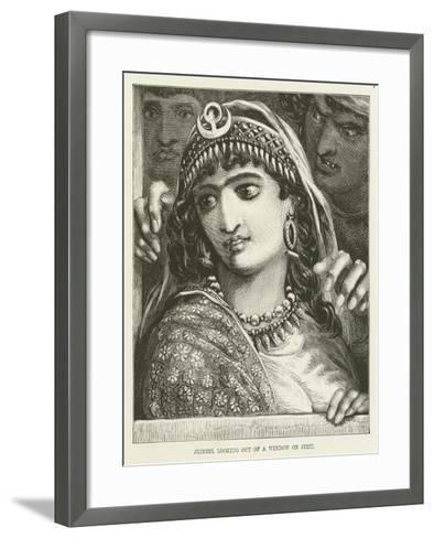 Jezebel Looking Out of a Window on Jehu--Framed Art Print