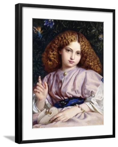 The Fair Conchologist-Alfred Walter Bayes-Framed Art Print