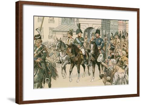 Entry of the Allied Monarchs in Paris in 1815-Carl Rohling-Framed Art Print