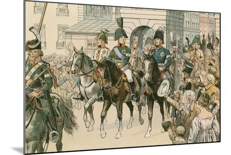 Entry of the Allied Monarchs in Paris in 1815-Carl Rohling-Mounted Giclee Print
