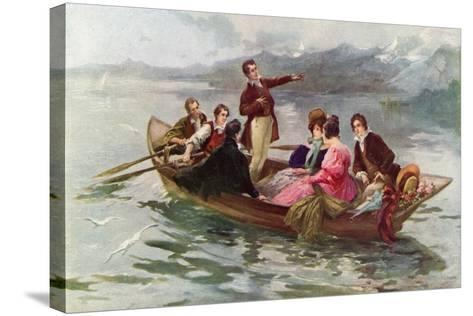 Byron and Shelley on the Lake of Geneva-Vicente De Paredes-Stretched Canvas Print