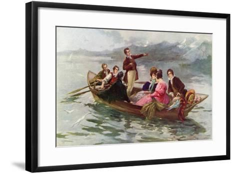 Byron and Shelley on the Lake of Geneva-Vicente De Paredes-Framed Art Print