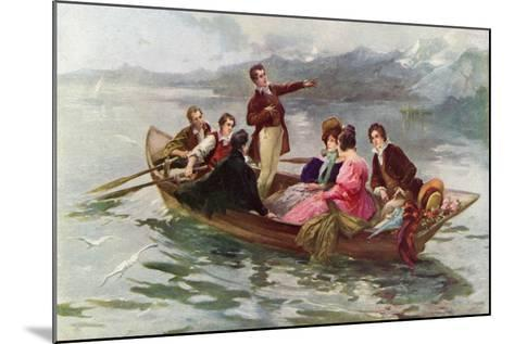 Byron and Shelley on the Lake of Geneva-Vicente De Paredes-Mounted Giclee Print