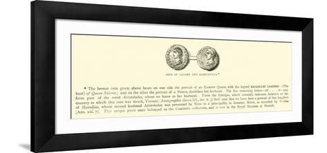 Coin of Salome and Aristobulus--Framed Art Print