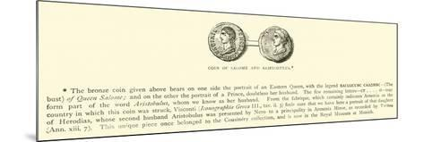 Coin of Salome and Aristobulus--Mounted Giclee Print