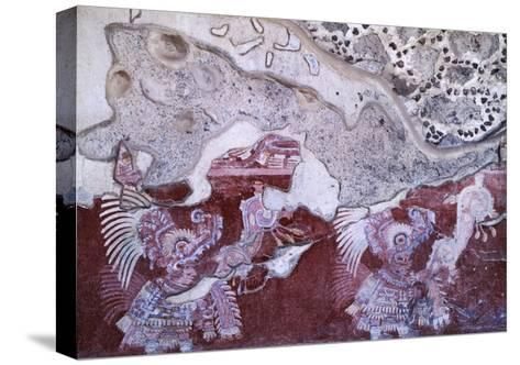 Fresco from the Culture of Teotihuacan--Stretched Canvas Print