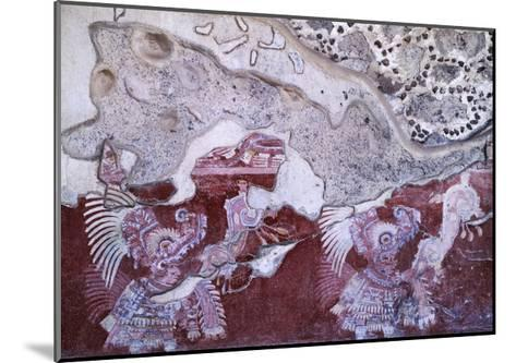 Fresco from the Culture of Teotihuacan--Mounted Giclee Print
