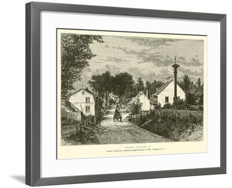 Canadian Village--Framed Art Print
