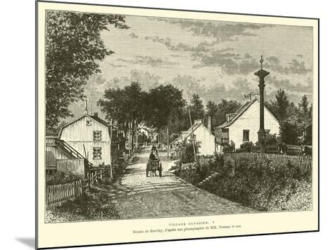 Canadian Village--Mounted Giclee Print