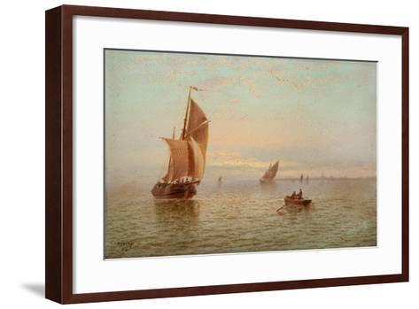 Evening, Coastal Scene, 1892-Thomas Lucop-Framed Art Print