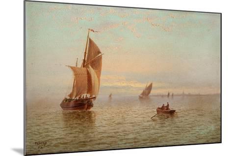 Evening, Coastal Scene, 1892-Thomas Lucop-Mounted Giclee Print