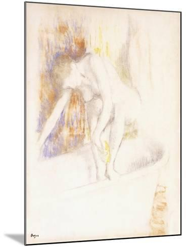After the Bath, 1890-1900-Edgar Degas-Mounted Giclee Print