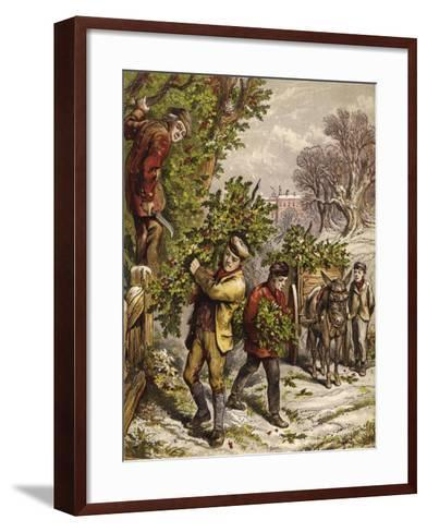 Collecting Holly--Framed Art Print