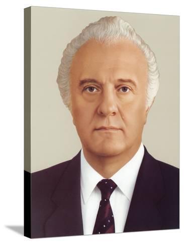 Eduard Ambrosis Shevardnadze--Stretched Canvas Print