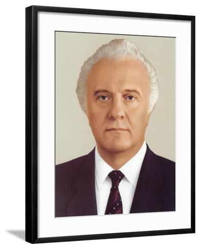 Eduard Ambrosis Shevardnadze--Framed Art Print