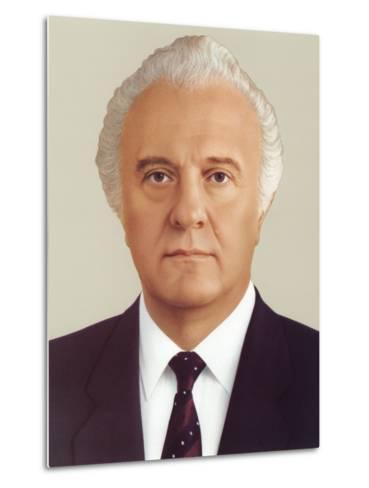 Eduard Ambrosis Shevardnadze--Metal Print