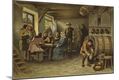 Scene in a Dutch Tavern, 14th Century-Willem II Steelink-Mounted Giclee Print