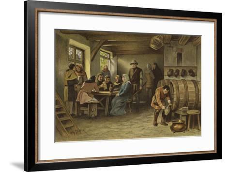 Scene in a Dutch Tavern, 14th Century-Willem II Steelink-Framed Art Print