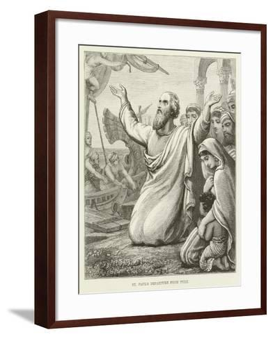 St Paul's Departure from Tyre--Framed Art Print