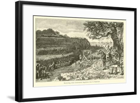 Attack on a Germanic Encampment by the Romans-Willem II Steelink-Framed Art Print