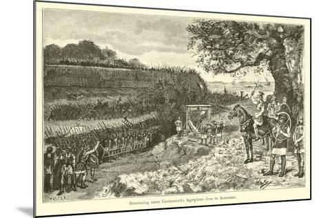 Attack on a Germanic Encampment by the Romans-Willem II Steelink-Mounted Giclee Print