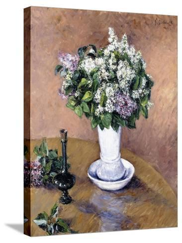 Still Life with a Vase of Lilac, 1883-Gustave Caillebotte-Stretched Canvas Print