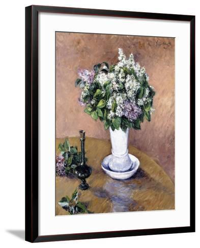 Still Life with a Vase of Lilac, 1883-Gustave Caillebotte-Framed Art Print