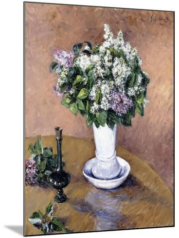 Still Life with a Vase of Lilac, 1883-Gustave Caillebotte-Mounted Giclee Print