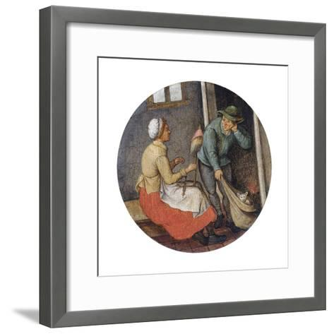 A Proverb - Letting the Cat Out of the Bag-Pieter Brueghel the Younger-Framed Art Print