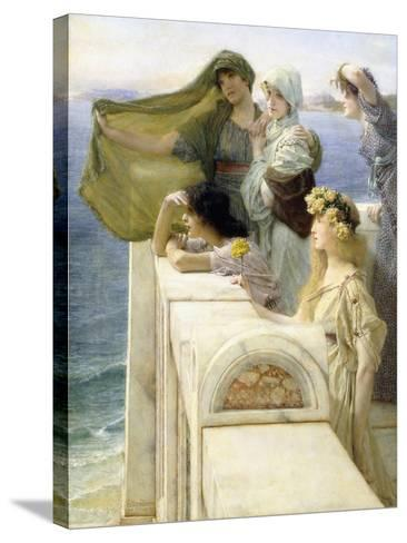 At Aphrodite's Cradle-Sir Lawrence Alma-Tadema-Stretched Canvas Print