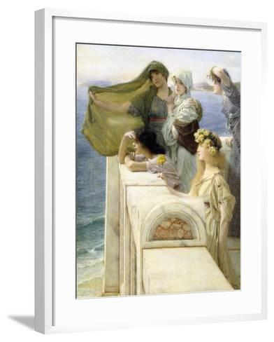 At Aphrodite's Cradle-Sir Lawrence Alma-Tadema-Framed Art Print