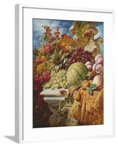 Still Life with Fruit-George Lance-Framed Art Print