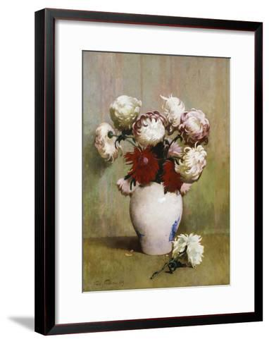 Chrysanthemums, 1893-Emil Carlsen-Framed Art Print