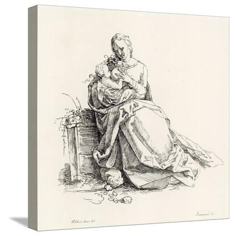 Virgin and Child-Albrecht D?rer-Stretched Canvas Print