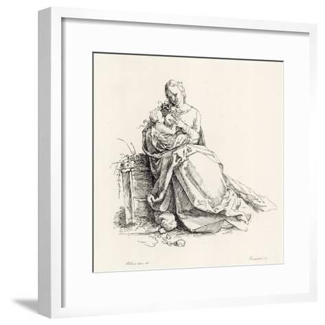 Virgin and Child-Albrecht D?rer-Framed Art Print