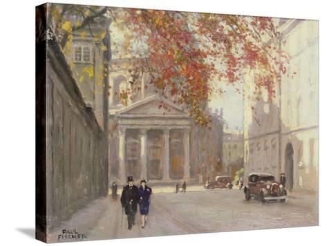 A Street in Copenhagen-Paul Fischer-Stretched Canvas Print